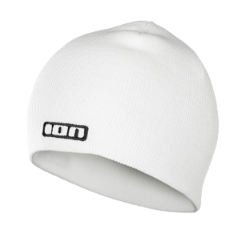 BEANIE LOGO / white/100