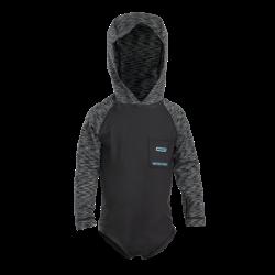 Toddler Rashguard LS Hood / black melange
