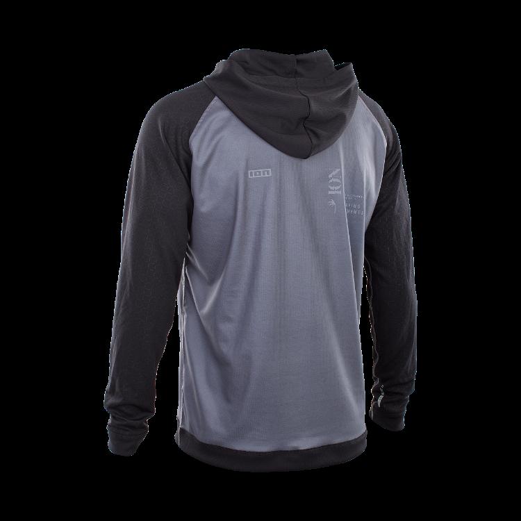 Wetshirt Hood LS / steel blue/black