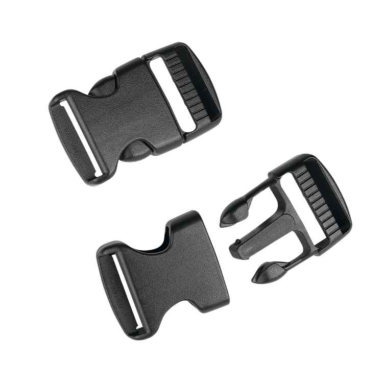 Quickrelease Buckle 25mm for legstraps (2x2 pcs m/f) / Unicolor